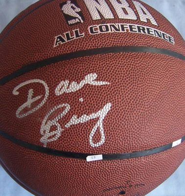 Dave Bing autographed NBA indoor/outdoor All-Conference basketball
