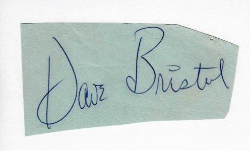 Dave Bristol autograph or cut signature mounted on 3x5 index card