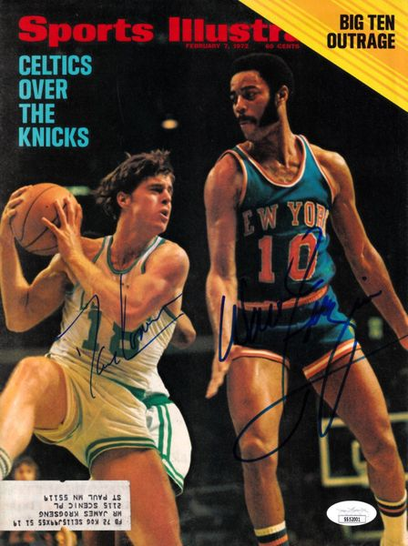 Dave Cowens and Walt Frazier autographed 1972 Sports Illustrated cover JSA