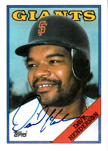 Dave Henderson autographed 1988 Topps card