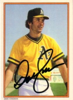 Dave Kingman autographed Oakland A's 1985 Topps Circle K All Time Home Run Kings card