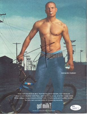 Dave Mirra autographed Got Milk? magazine back cover BMX ad (JSA)