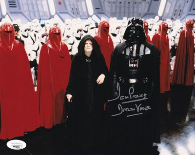 Dave Prowse autographed Star Wars 8x10 photo inscribed Darth Vader (JSA)