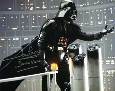 Dave Prowse autographed Star Wars The Empire Strikes Back 8x10 photo inscribed Darth Vader