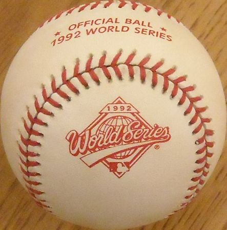Dave Winfield autographed Rawlings 1992 World Series game model baseball #880/999