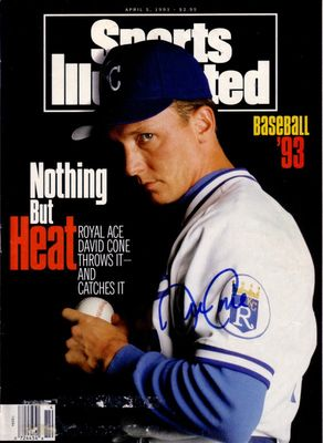 David Cone autographed Kansas City Royals 1993 Sports Illustrated