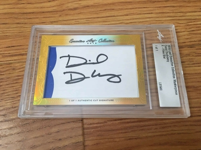 David Duchovny 2016 Leaf Masterpiece Cut Signature certified autograph card 1/1 JSA X-Files