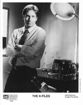 David Duchovny X-Files original 8x10 black and white publicity photo