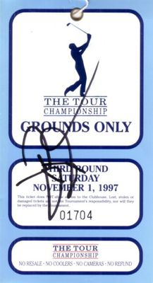 David Duval autographed 1997 PGA Tour Championship ticket