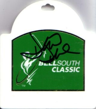 David Duval autographed 1999 Bellsouth Classic badge