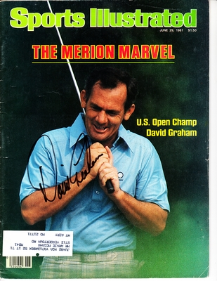 David Graham autographed 1981 U.S. Open golf Sports Illustrated