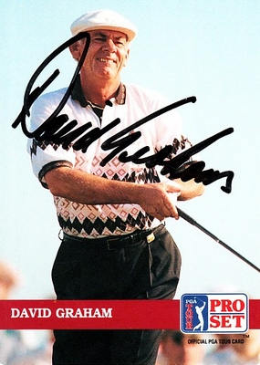 David Graham autographed 1992 Pro Set golf card
