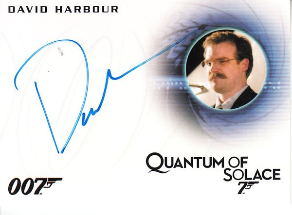 David Harbour certified autograph 2015 James Bond Archives Quantum of Solace card