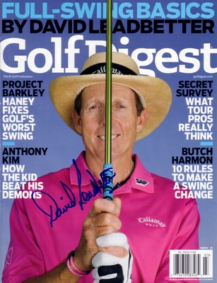David Leadbetter autographed Golf Digest magazine cover