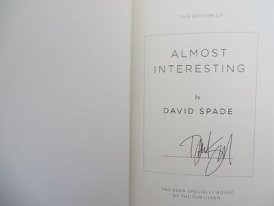 David Spade autographed Almost Interesting hardcover first edition book