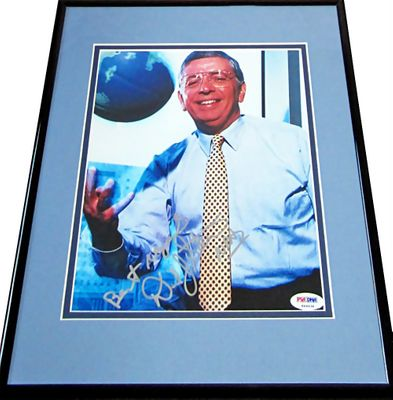 David Stern autographed 8x10 photo matted and framed inscribed Best regards and NBA (PSA/DNA)