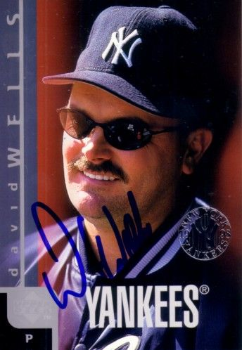 David Wells autographed 1998 New York Yankees jumbo card