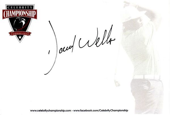 David Wells autographed 4x6 signature card