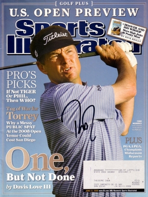 Davis Love III autographed 2006 Golf Plus Sports Illustrated