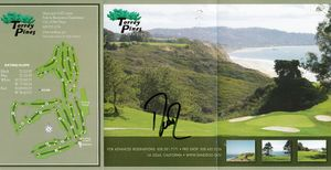 Davis Love III autographed Torrey Pines North golf scorecard