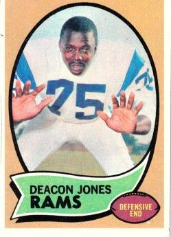 Deacon Jones Los Angeles Rams 1970 Topps card #125