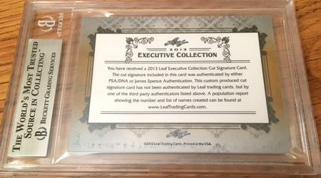 Deacon Jones 2013 Leaf Masterpiece Cut Signature certified autograph card 1/1 JSA Rams