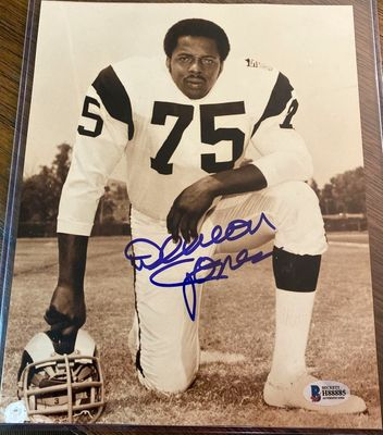 Deacon Jones autographed Los Angeles Rams 8x10 photo (BAS)