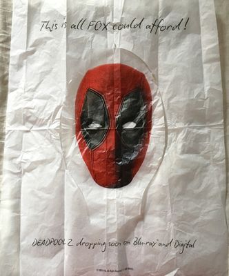 Deadpool 2018 ComicCon promo toilet seat cover
