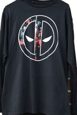 Deadpool logo Marvel black long sleeve size XL T-shirt BRAND NEW