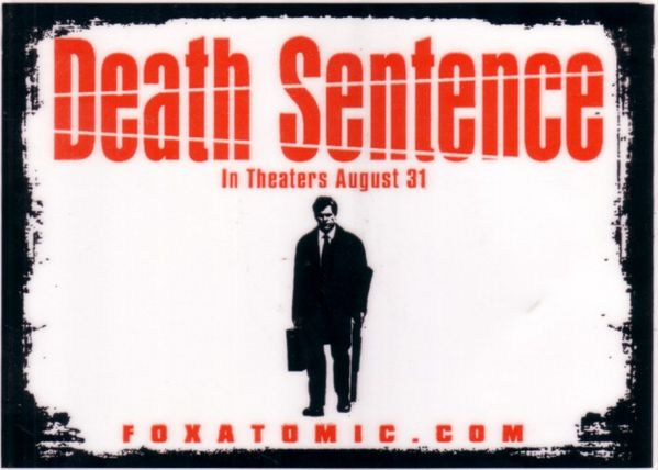 Death Sentence movie 5x7 promo sticker
