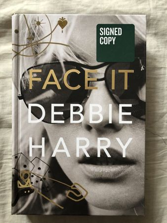 Debbie Harry autographed Face It hardcover first edition book