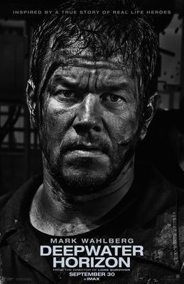 Deepwater Horizon 2016 full size 27x40 movie poster (Mark Wahlberg)