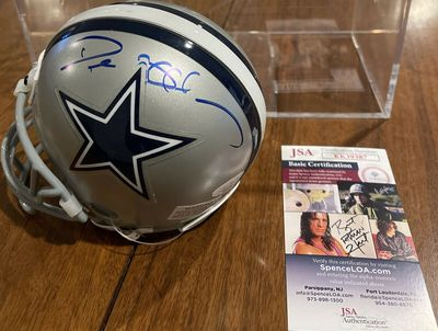 Deion Sanders autographed Dallas Cowboys mini helmet (JSA)