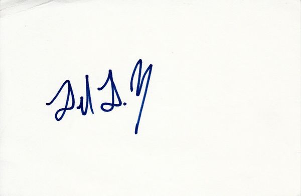 Delmon Young autographed index card