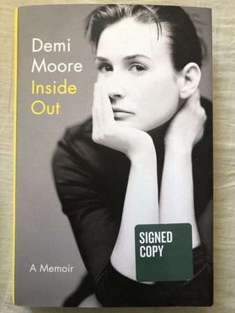 Demi Moore autographed Inside Out hardcover first edition book