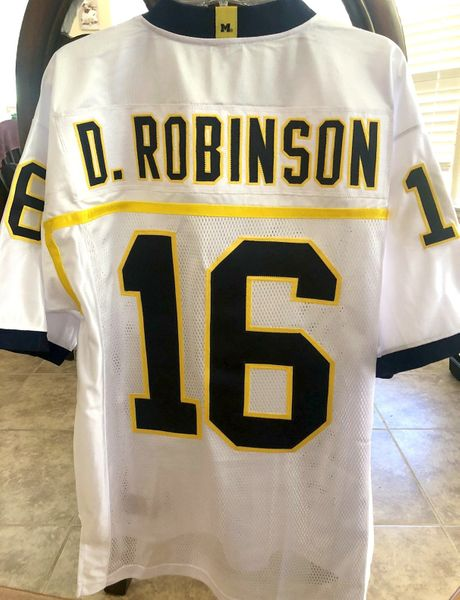 Denard Robinson Michigan Wolverines 2012 authentic Adidas double stitched white jersey NEW