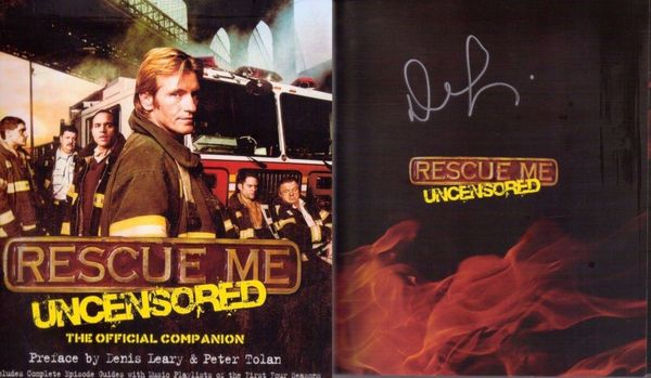 Denis Leary autographed Rescue Me Uncensored softcover book