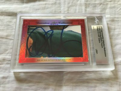 Dennis Eckersley and Rollie Fingers 2017 Leaf Masterpiece Cut Signature certified autograph card 1/1 JSA
