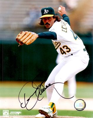 Dennis Eckersley autographed Oakland A's 8x10 photo