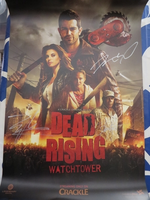 Dennis Haysbert & Jesse Metcalfe autographed Dead Rising Watchtower movie 2015 Comic-Con poster