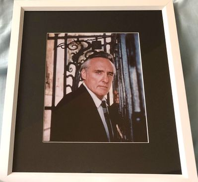 Dennis Hopper autographed vintage portrait photo matted and framed