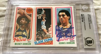 Dennis Johnson autographed Phoenix Suns 1980-81 Topps card (BAS authenticated and slabbed)