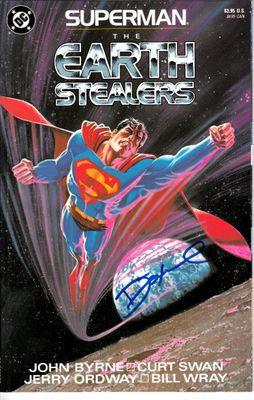 Dennis (Denny) O'Neil autographed Superman The Earth Stealers comic book or graphic novel
