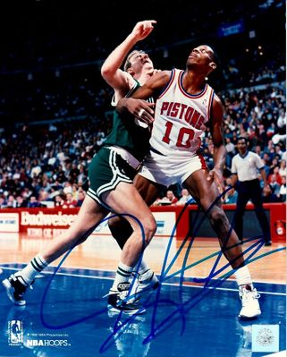Dennis Rodman autographed Detroit Pistons 8x10 photo (Superstar Greetings)