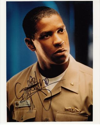 Denzel Washington autographed Crimson Tide 8x10 photo inscribed God Bless (smudged)