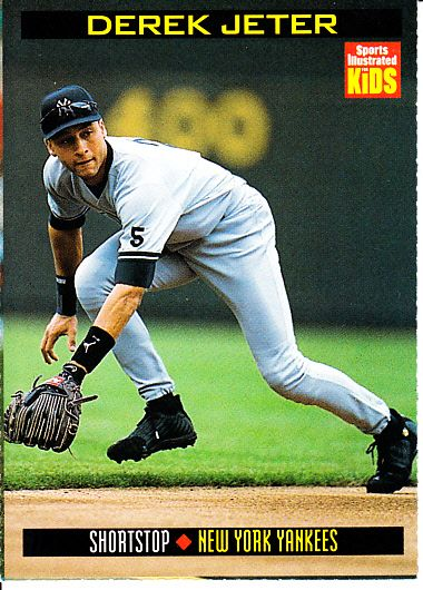 Derek Jeter New York Yankees 1999 Sports Illustrated for Kids card