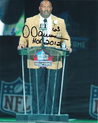 Dermontti Dawson autographed Pro Football Hall of Fame 8x10 photo inscribed HOF 2012