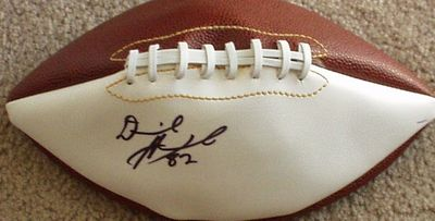 Derrick Alexander autographed full size white panel football