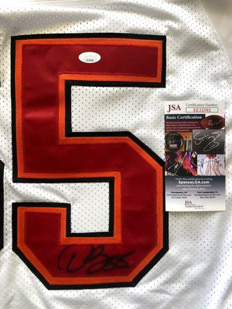 Derrick Brooks autographed Tampa Bay Buccaneers authentic Reebok white game model jersey (JSA)