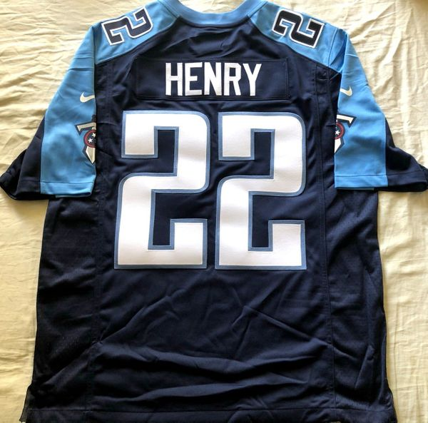 Derrick Henry Tennessee Titans 2016 ROOKIE SEASON authentic Nike double stitched blue jersey NEW